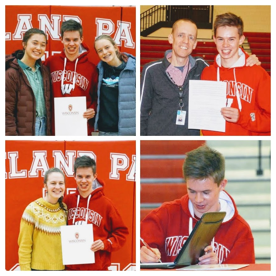 Student signing letter of intent to attend UW-Madison