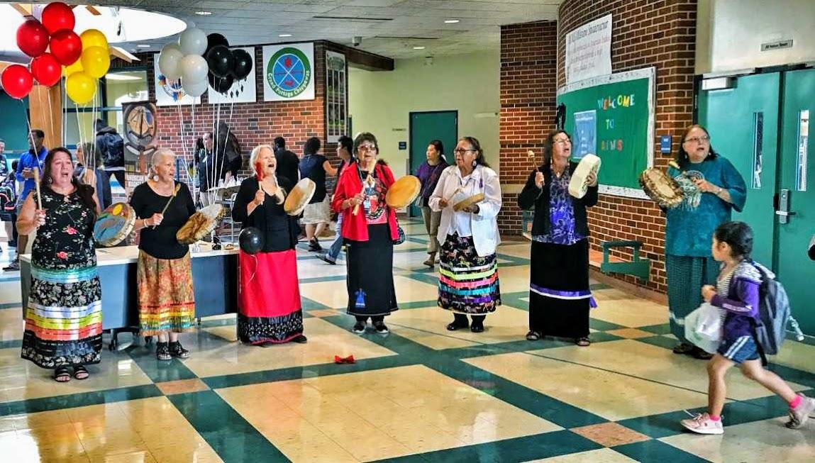 A local elder women's drum group