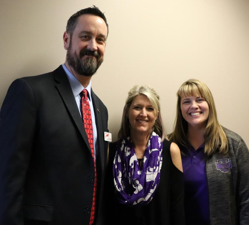 Dr. Chad Higgins, Michelle Hilliard, and Dr. Kristy Custer