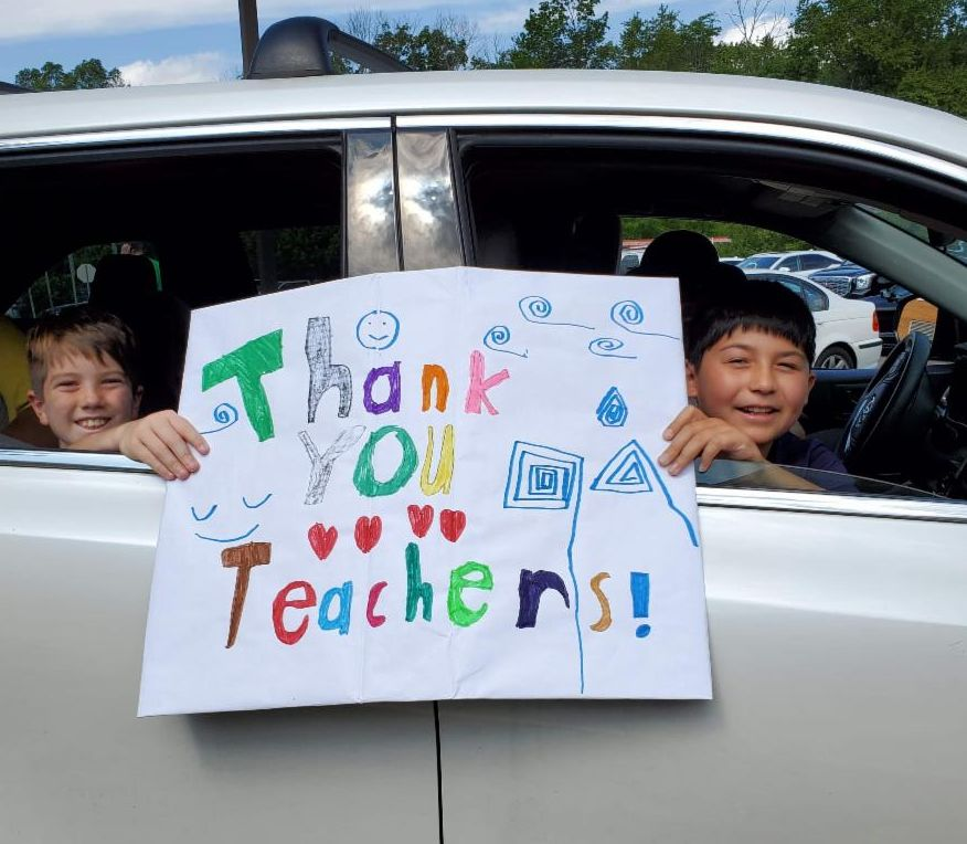 teacher driveby