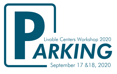 Parking logo with large P to look like a parking sign