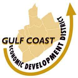 GCEDD Logo Texas with arrow around the bottom