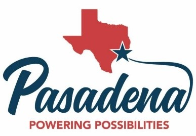 Texas above the words Pasadena Powering Possibilities