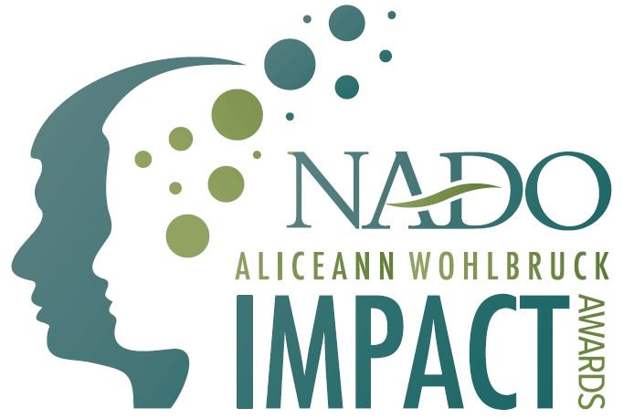 NADO Impact award with graphic of outlined faces