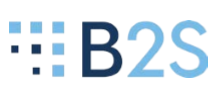 B2S with block beside the letters - logo