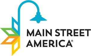 Main Street America written with stylized street light above