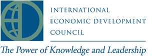 International Economic Development Council logo with The Power of Knowledge and Leadership wordmark