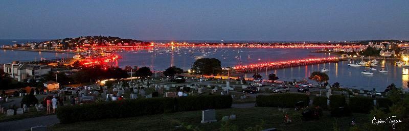 Illumination at cemetery