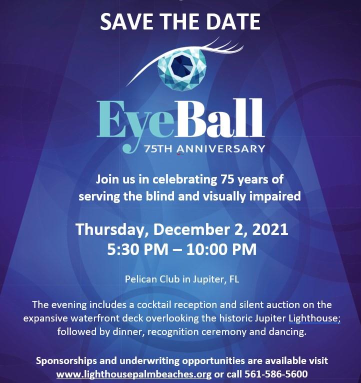 Save the Date 75th Anniversary Eye Ball Thursday, December 2, 2021.