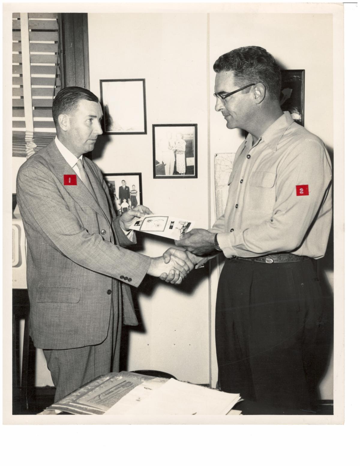 Eric G. Bellender and Florida Governor Dan McCarty