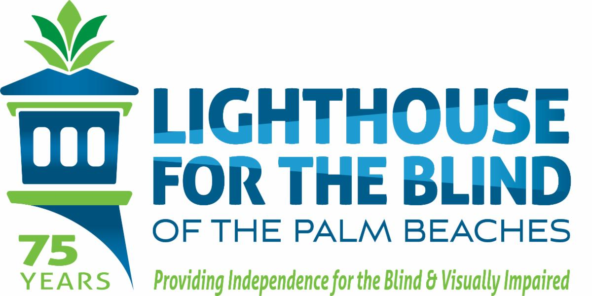 Lighthouse for the Blind new logo with 75 years under it