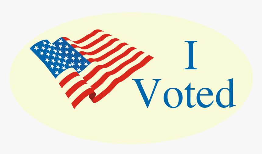 I vote sticker with American flag