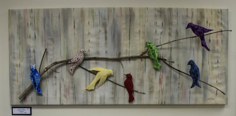 Not of a Feather by Lois Mihok will grace a wall in the new Prairie Ridge building