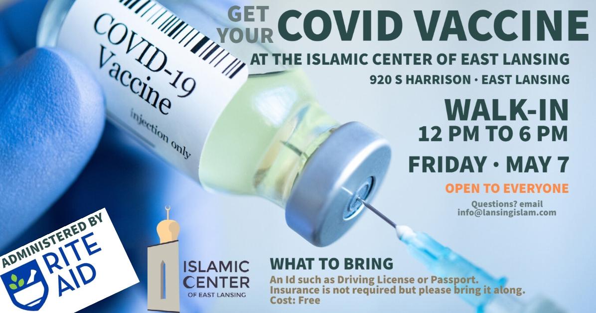 COVID Vaccine at the Islamic Center