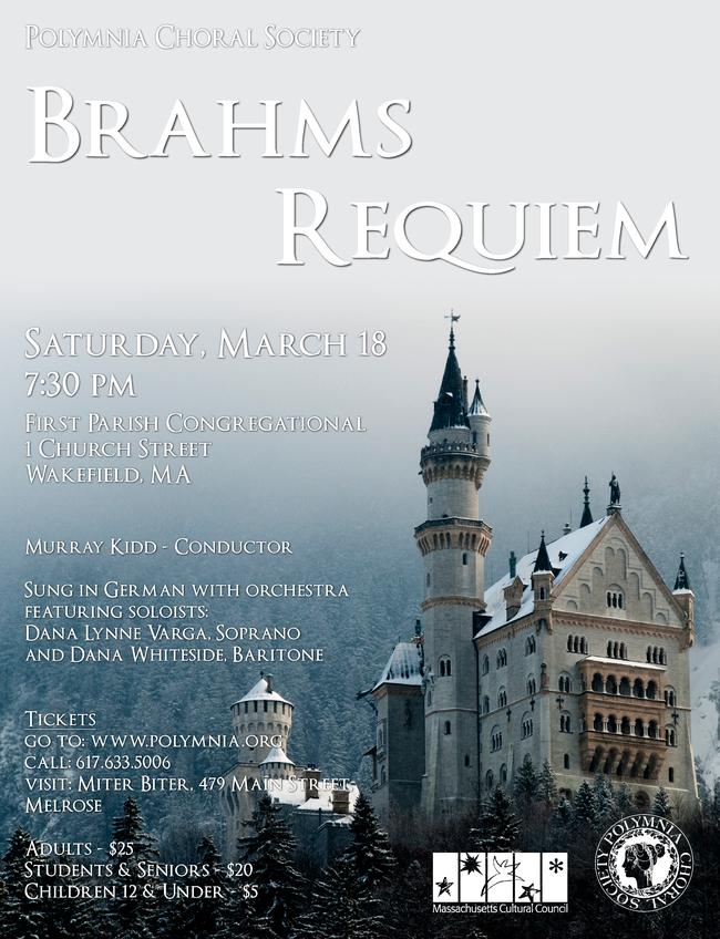 Polymnia to Present Brahms' Requiem