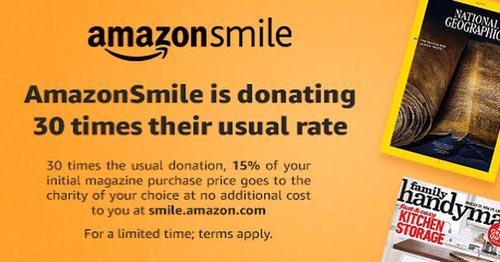 AmazonSmile Subscription Promo