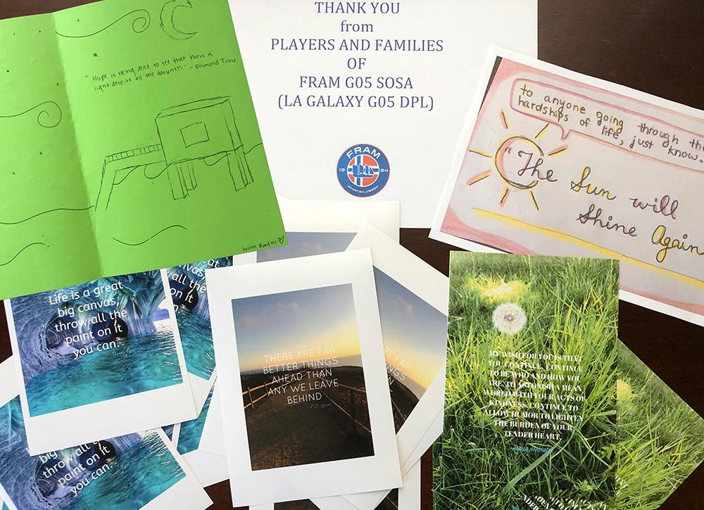 Fram Soccer Team Encouragement Cards