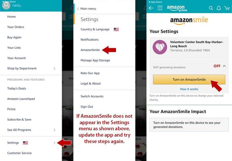 AmazonSmile Settings