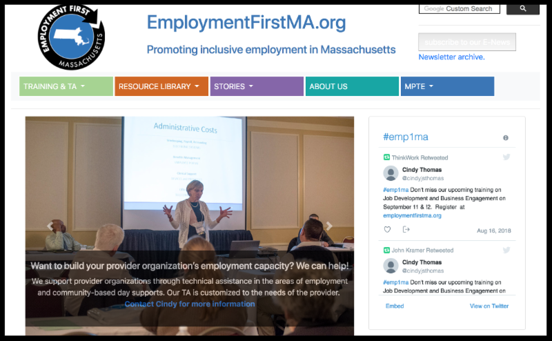 employment first ma website screenshot
