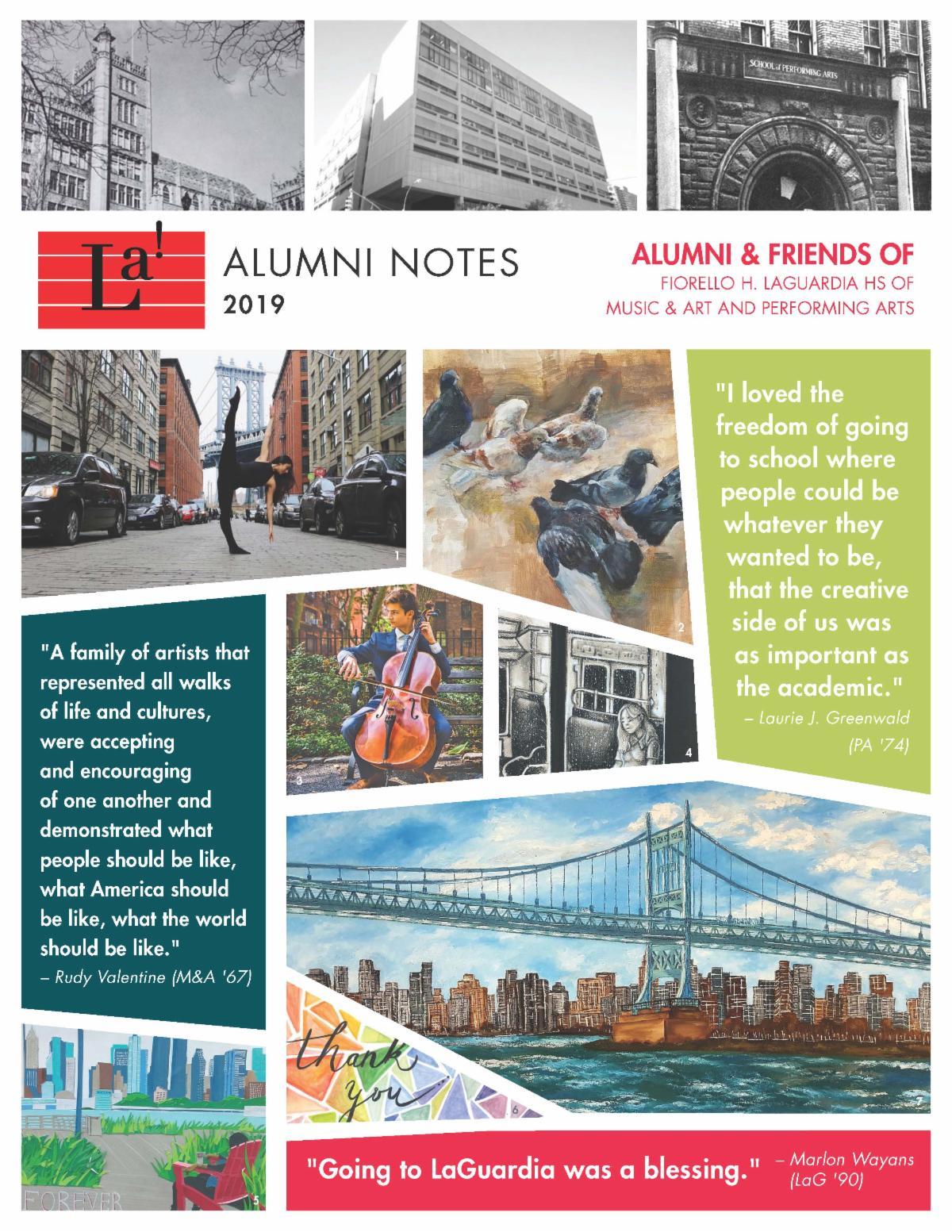 Alumni Notes 2019 from Alumni & Friends of LaGuardia High School