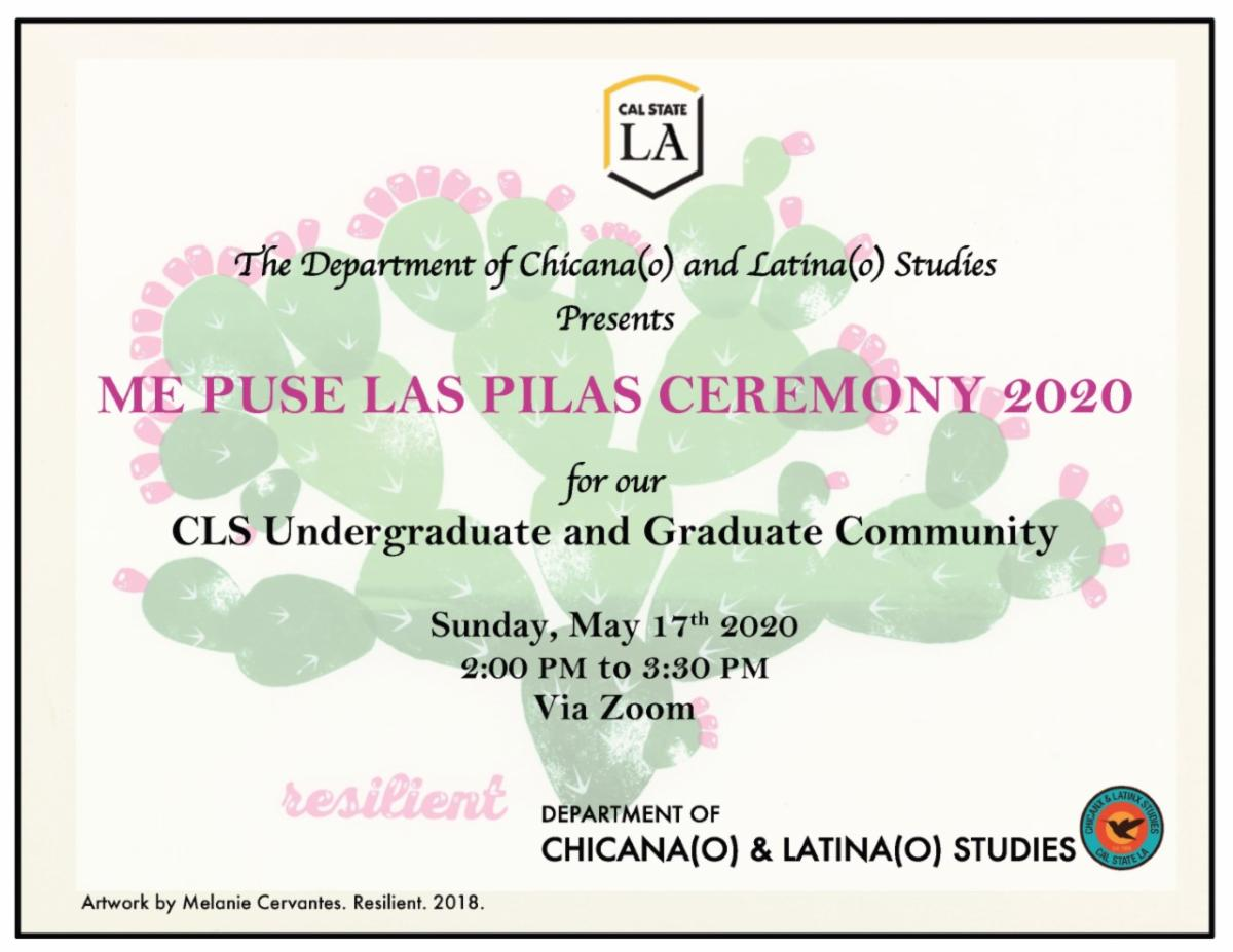 Invitation to a ceremony for CLS undergraduates and graduates
