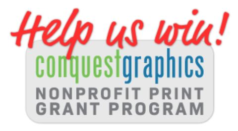 Conquest Graphics gives us discounted printing
