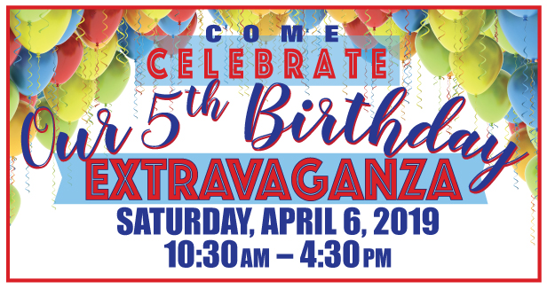 Celebrate our 5th birthday
