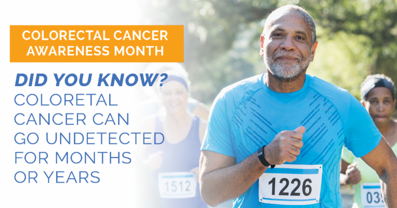 Did you know colorectal cancer can go undetected for months or years?