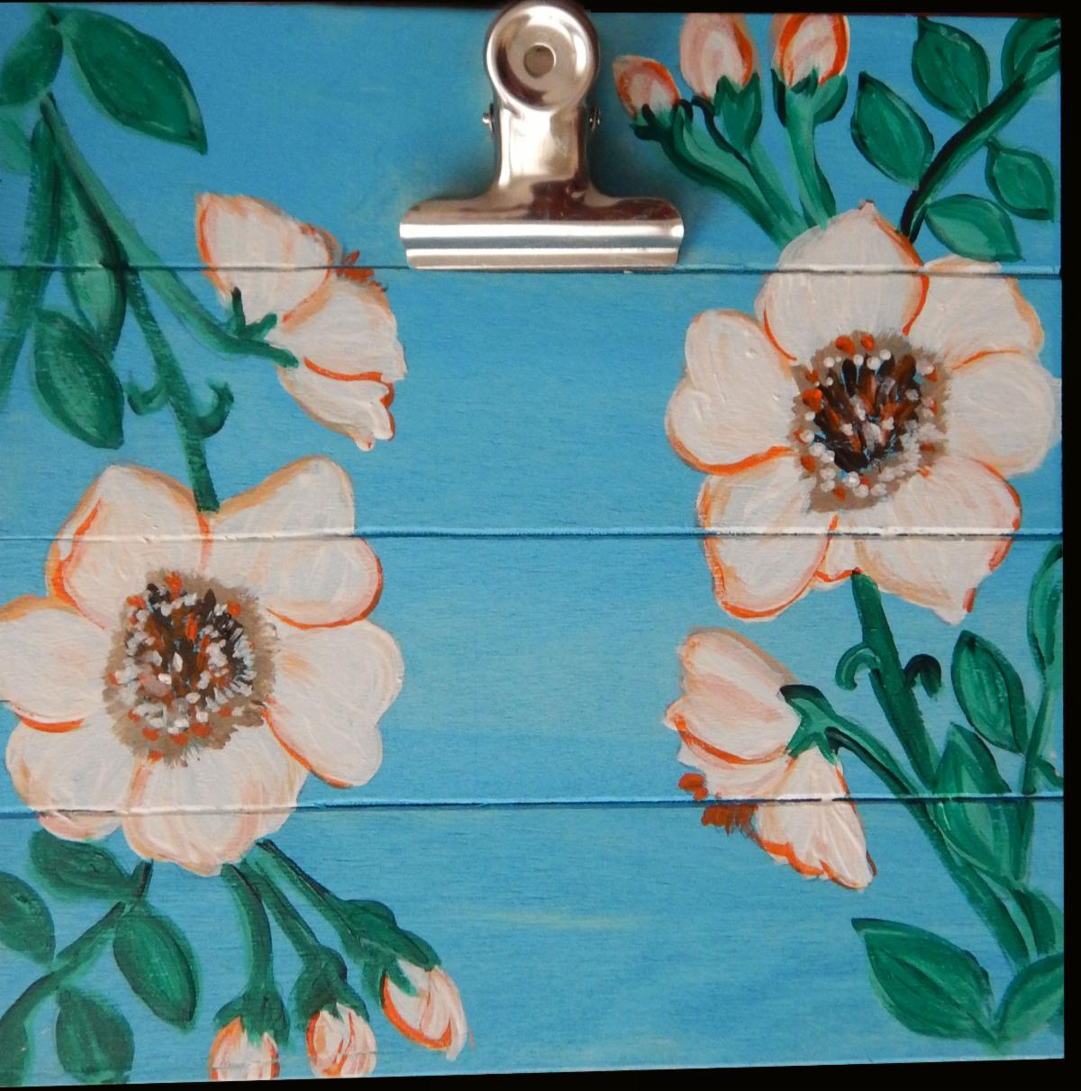 mobile art clip board painting