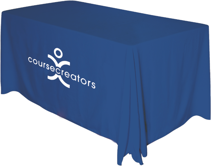 Printed Draped Table Cover image