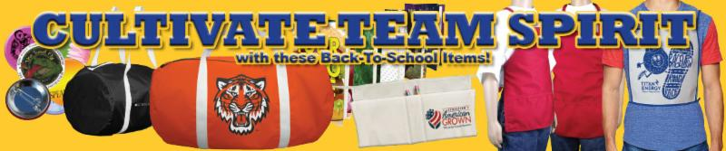 Cultivate Team Spirit with Back-to-School Items.  This email contains images, if you cannot see them, please click here to view it in your browser.