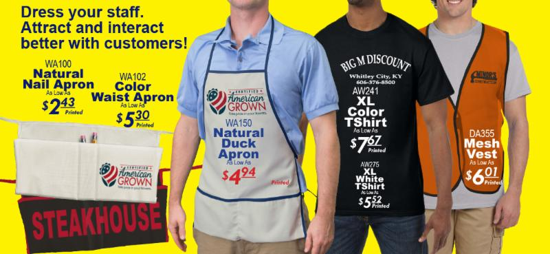 Dress your staff.  Attract and interact better with customers!