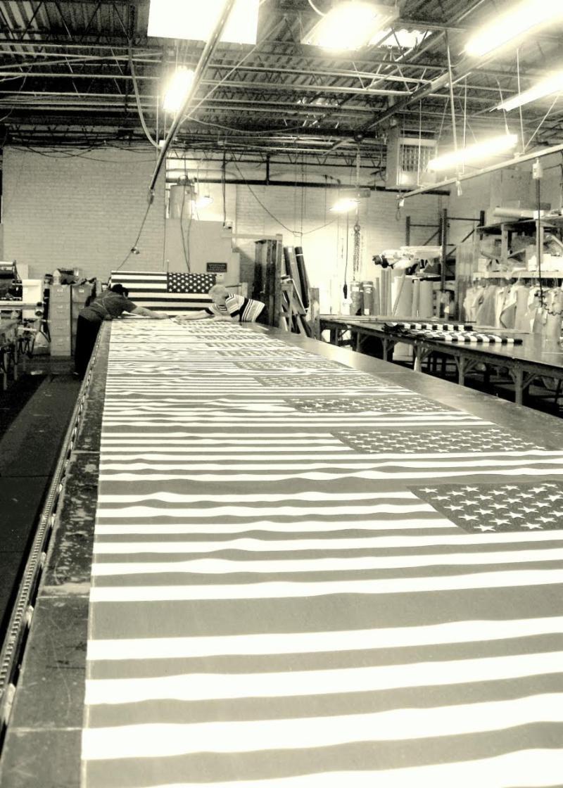 USA Manufacturing Photo • AdCapitol • Flag Factory • Monroe, NC