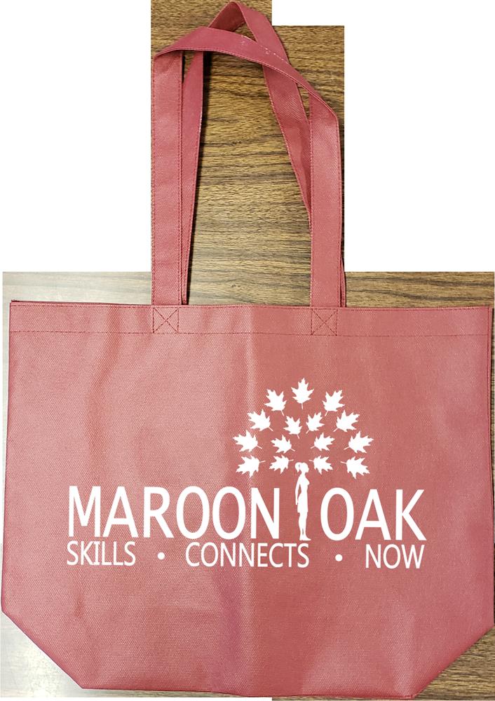 TB681 Maroon Non-Woven Tote Bag image
