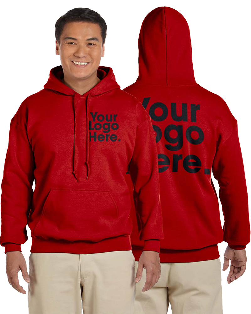 AW562 Red Hooded Sweatshirt