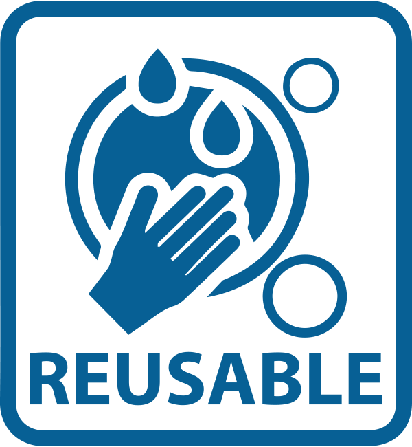 Washable • Reusable