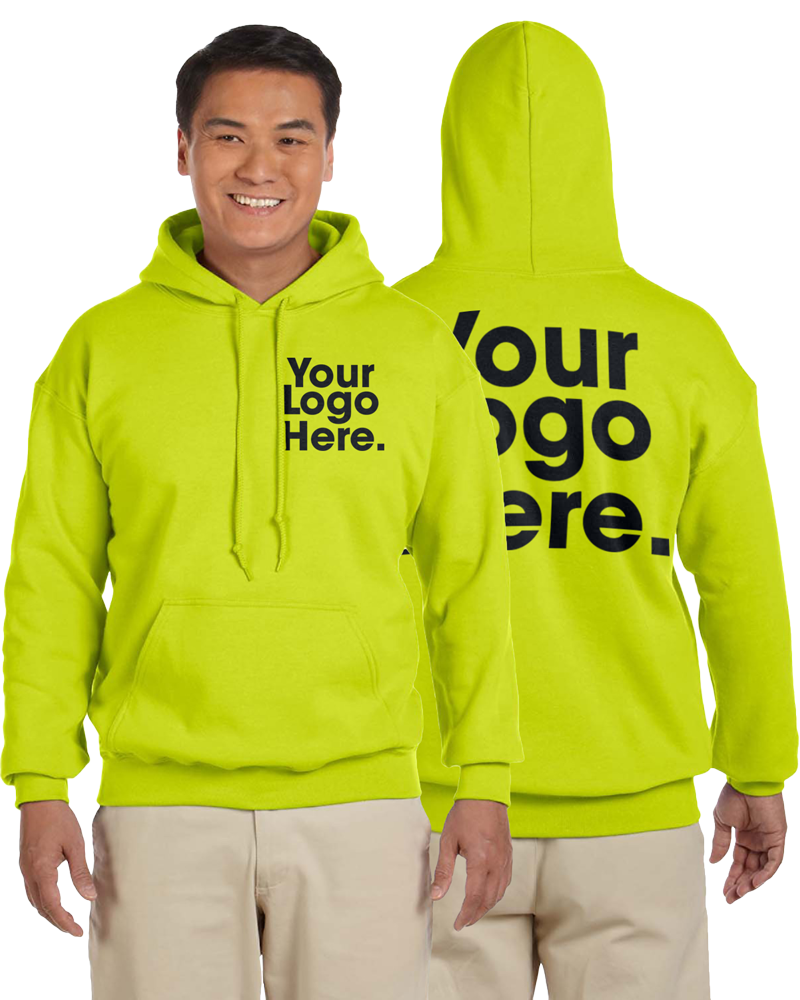 AW562 Safety Green Hooded Sweatshirt