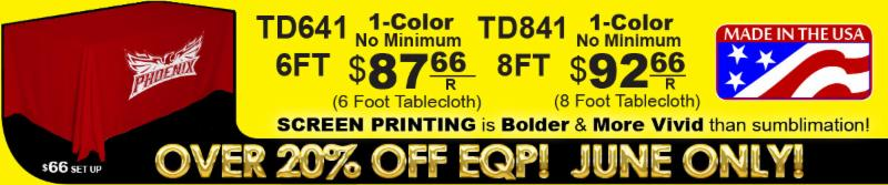JUNE ONLY - 20% Off EQP Tablecloths