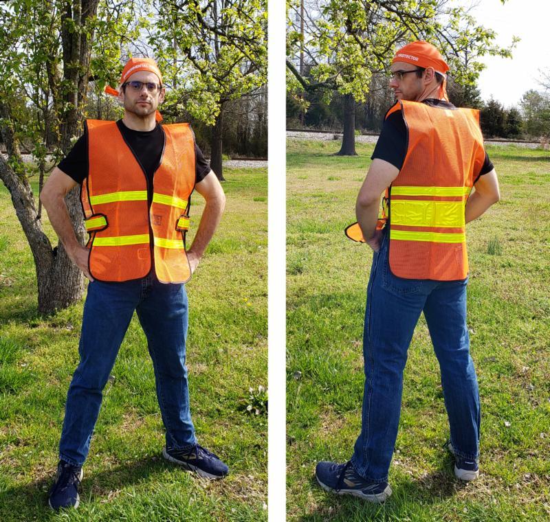 Safety Vest image front & back