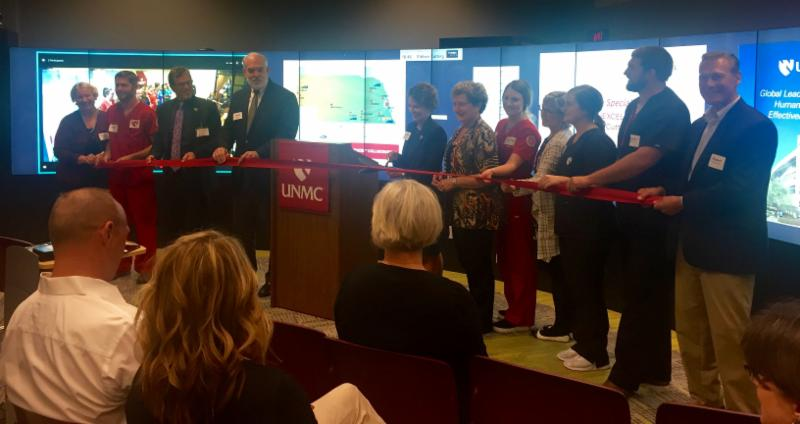Connected omaha ribbon cutting