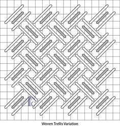 woven trellis variation stitch