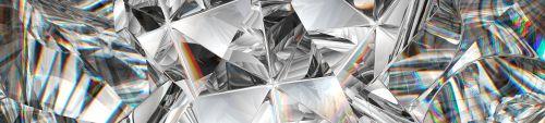 diamond texture closeup and kaleidoscope. top view of round gemstone 3d render_ 3d illustration