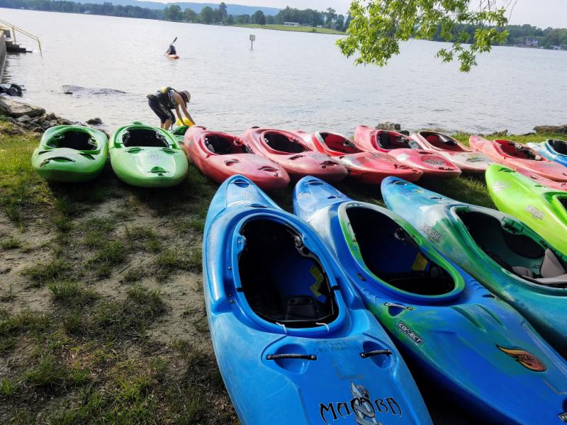 Rapid Learning Intro to Kayaking Skills Classes at Chester Frost County Park.