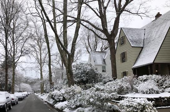 Snow on Post St