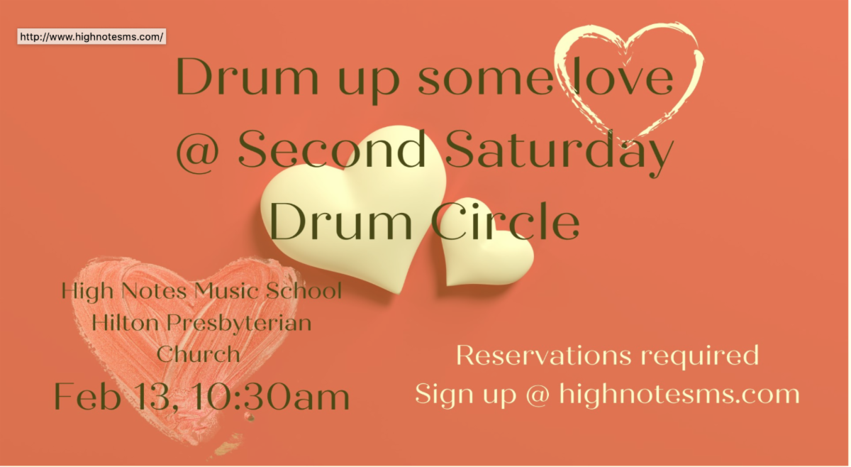 High Notes Music School Drum Circle 2nd Saturdays