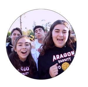 Aragon students performing their lip dub