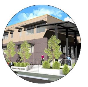 Artist rendering of the future Peninsula High School