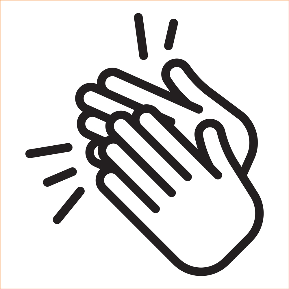 drawing of a hand clap