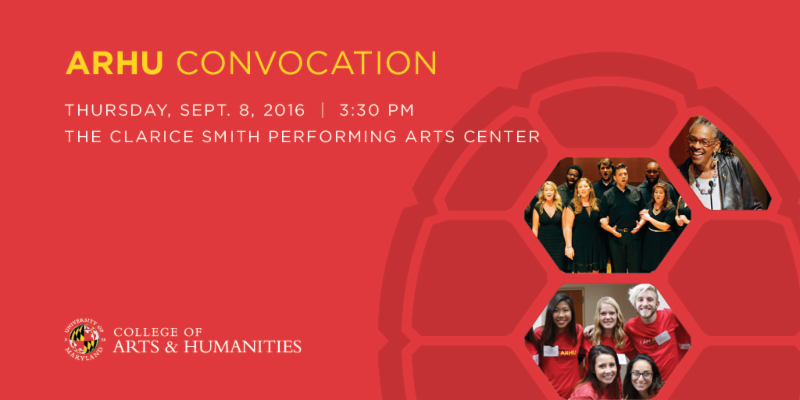 ARHU Convocation September 8th, 3:30PM