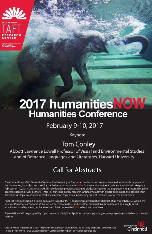 humanitiesNOW Call for Papers Flier